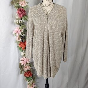 Express Oversized Quarter Zip Knit Sweater size L